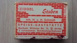 Zündholzschachtel Mit Werbung Für Eine Gaststätte In Bochum (Deutschland) - Zündholzschachteln
