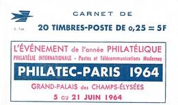 Carnet Type Decaris Complet Philatec 1964 Seie 7 64 , Daté Du 25 04 64 ** Luxe - Carnets