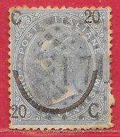 Italie N°22a 20c Sur 15c Bleu Pâle (type II) 1865 O - 1861-78 Victor Emmanuel II
