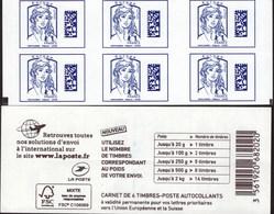 """CARNET Marianne De Ciappa-Kawena """"DATAMATRIX"""" Avec Double Carré Noir. TRES TRES RARE..!!! - Usage Courant"""