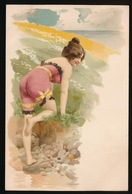 EROTISME EROS RISQUE FEMME GIRL WOMAN - CARTE ART NOUVEAU - BELLADONNA - TRES BEL ETAT - Illustrateurs & Photographes