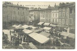 CPA Montélimar - Place Du Marché  ..    ( S.2978 ) - Montelimar
