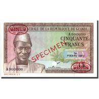 Billet, Guinea, 50 Francs, 1960, 1960-03-01, Specimen TDLR, KM:12s, NEUF - Guinée