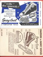 "2 Buvards Anciens - CHAUSSURE De BASKET  "" SPRING-COURT -HUYARD à ARGENTEUIL - FABRICATION GRIMMEISEN -imp KOSSUTH Paris - Zapatos"