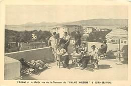 Ref 158- Alpes Maritimes - Terrasse Du Palais Wilson *- A Juan Les Pins  - Carte Bon Etat - - Antibes