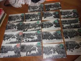 Lot De 18 Cartes Numerotees Les Funerailles Des 27 Victimes De Pluviose - Calais