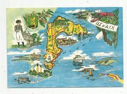 Cp , Carte Géographique, 17 , ILE D'AIX , écrite 1969 , Ed. Artaud , N° 103 - Carte Geografiche