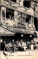 PARIS - Le Boulevard Saint-Denis 17 Restaurant Taverne Du Nègre Bicyclette Vélo - SEINE Cpa Ayant Voyagée En 1910 - Pubs, Hotels, Restaurants