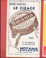 """Buvard Ancien """" NOYAMA """" à BOULOGNE (SEINE)  Boîte à Clef - Impression BLEU Et MARRON - Shoes"""