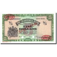 Billet, Hong Kong, 5 Dollars, 1962, Specimen TDLR, KM:68s, NEUF - Hong Kong