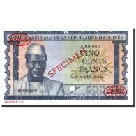 Billet, Guinea, 500 Francs, 1960, 1960-03-01, Specimen TDLR, KM:14s, NEUF - Guinea