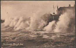 Rough Sea, Penzance, Cornwall, 1916 - Frith's Postcard - England