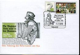 34357 Germany, Special Postmark On Stationery Cover  2015 Konstanz,  Jan Hus,  Evalngelischer Reformator - Christianity