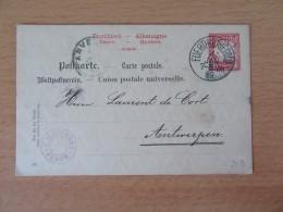 Entier Postal Allemagne Bavière / Bayern 10 Pfennig - Oblitération Fuerth Bayern - Circulé Le 4 Janvier 1889 - Bavière