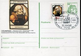 34360 Germany, Special Stationery + Postmark 1980 500 Year Of Birth Gotz Berlingen - Célébrités