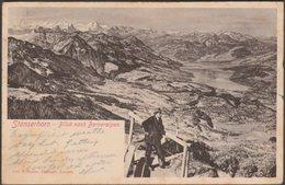 Blick Nach Berneralpen, Stanserhorn, Nidwalden, 1903 - Goetz U/B AK - NW Nidwalden