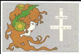 2ème Rencontre Cartophile . METZ 1980. La Lorraine Vivra. - Collector Fairs & Bourses