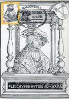 34364 Germany Maximum 1988 Ulrich Von Hutten Humanist, German Scholar, Poet, Satirist And Reformer - Célébrités