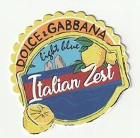 Dolce&Gabbana    ITALIAN ZEST Belle Carte  épaisse - Cartes Parfumées