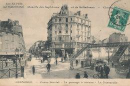38 // GRENOBLE    Cours Berriot, Le Passage à Niveau, La Passerelle, - Grenoble