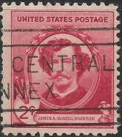 USA 1940 Famous Americans - Artists - 2c. James A. McNeill Whistler FU - Oblitérés