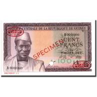 Billet, Guinea, 100 Francs, 1960, 1960-03-01, Specimen TDLR, KM:13s, NEUF - Guinea