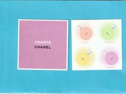 """CHANEL  """"Chance"""" - Cartes Parfumées"""