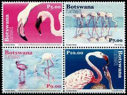 Botswana 2018 - Faune En Danger, Oiseaux, Flamants Du Botswana - 4 Val Neufs // Mnh - Botswana (1966-...)