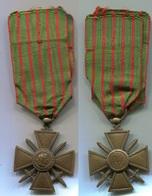G086 MEDAILLE CROIX DE GUERRE 1914 1918 - France