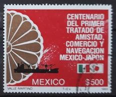 MÉXICO 1988 The 100th Anniversary Of Mexico-Japan Friendship, Trade And Navigation Treaty. USADO - USED. - Mexique