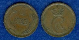 Dänemark 1 Öre 1889 - Denmark