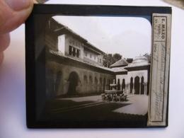ESPAGNE GRANADA FONTAINE DES LIONS SUPERBE PHOTO PLAQUE DE VERRE  10 X 8.5 - Glasdias