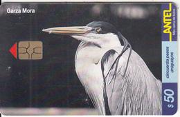 URUGUAY - Bird, Garza Mora(153a), 10/00, Used - Birds
