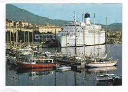 (CPSM : 15 X 10, 5)  -   AJACCIO  -  Le Car-Ferry Napoléon Au Quai De Commer - Ajaccio