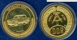Medaille Damals In Der DDR Trabant 601 40mm - Elongated Coins