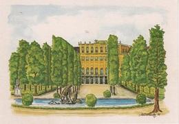 Künstlerkarte AK Leo Dobrowsky Wien Schloss Schönbrunn Kunst Art Malerei Aquarell Österreich Austria Autriche - Künstlerkarten