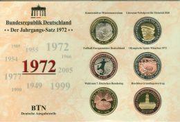 BRD Medaillen-Jahrgangssatz 1972 - Elongated Coins