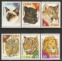 1977 Mi# 2257-2262 ** MNH - Felines - Nuevos
