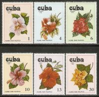 1978 Mi# 2356-2361 ** MNH - Flowers Of The Pacific - Cuba