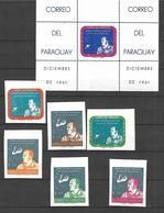 Paraguay  Poste Aérienne 1961  Cat :Yvert N° A 339/341**; MNH; Non Dentelé; Astronaute; Alan Shepard - Paraguay
