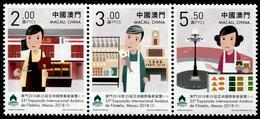 MACAU 2018 - 35e Expo Philatélique Asiatique - 3 Val Neuf // Mnh - 1999-... Région Administrative Chinoise