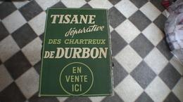 PLAQUE PUBLICITAIRE EN CARTON  Tisane Des Chartreux De Durbon - Paperboard Signs