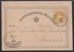Neuhaus B. Cilli (Dobrna), On 2 Kr. Yellow Postcard, July 1875 - 1850-1918 Empire
