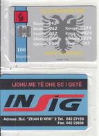 ALBANIA - Telecom Shqiptar 100 Units(reverse INSIG), CN : 10 Digits(1001xxxxxx), Tirage %85000, 11/96, Mint - Albania
