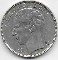 20 Fr Léopold III  1935 - 1934-1945: Leopold III