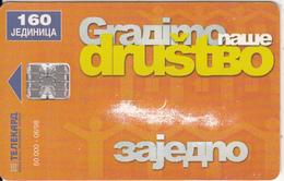 BANJA LUKA(SERBIA) - Tolerance(160 Units), Tirage 50000, 06/98, Used - Phonecards