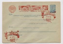 Stationery Used  Cover USSR RUSSIA Baku Azerbaijan Standard Week Letter - 1923-1991 URSS