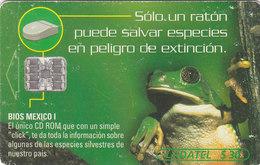 Mexico Phonecard LADATEL TELMEX GREEN FROG  No Credit Good Condition - Mexico