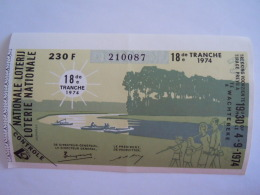 Belgie Belgique Loterie Nationale Loterij 18 De E Tranche  Wachtebeke 1974 - Billets De Loterie