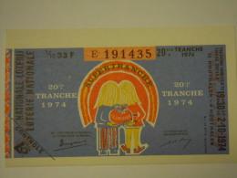 Belgie Belgique Loterie Nationale Loterij 20 Ste E Tranche Houthalen 1974 - Billets De Loterie